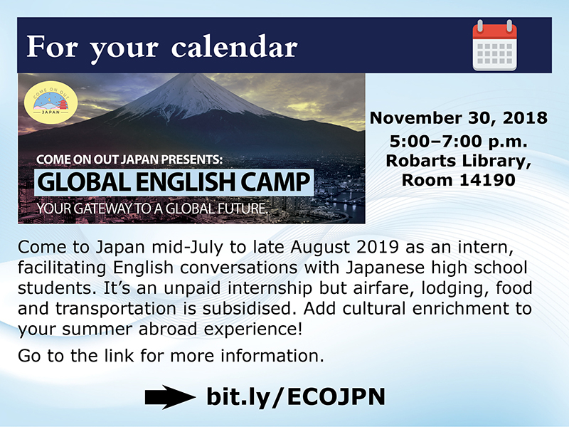 2018-11-30 - Global English Camp Info Session