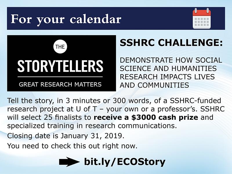 SSHRC Storytelling contest