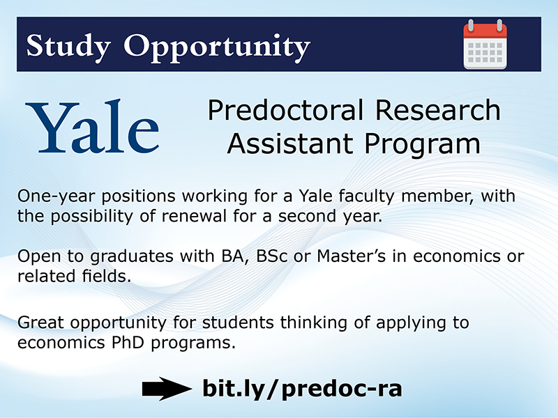 Yale Predoc RA opportunities